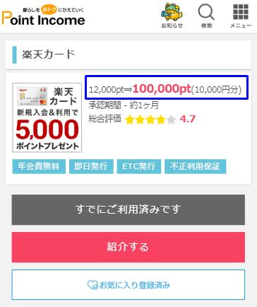 楽天カード 10,000円
